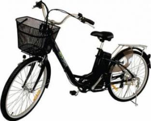 Bicicleta electrica Nova Vento Clasic L26A Black 250W Baterie 24V12Ah roti 26 Vehicule electrice