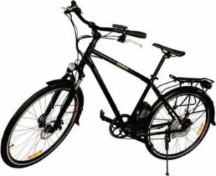 "Bicicleta electrica Nova Vento Long Run L2803 Black 250W, Baterie LI36V6Ah, roti 28"", 7 viteze Vehicule electrice"