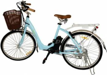 "Bicicleta electrica Nova Vento Mlady L2601 Blue 250W Baterie LI 36V6Ah roti 26"" 7viteze Vehicule electrice"