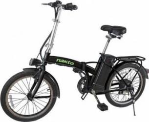 Bicicleta electrica pliabila Nakto autonomie 25 35 Km viteza max 30 Kmh Alba Vehicule electrice