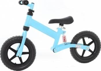 Bicicleta fara pedale EURObaby FBB-1 Blue Biciclete pentru copii
