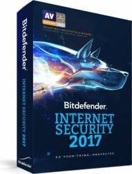 Bitdefender Internet Security 2017 5PC 1An Licenta Noua DVD Antivirus
