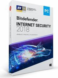 Bitdefender Internet Security 2018 1An 10PC Licenta Noua DVD Antivirus