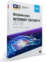 Bitdefender Internet Security 2018 1An 5PC Licenta Noua DVD Antivirus