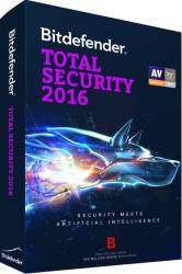 Bitdefender Total Security 2016 3 PC 1 An BOX