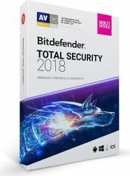 Bitdefender Total Security 2018 1An 10PC Licenta Noua DVD Antivirus