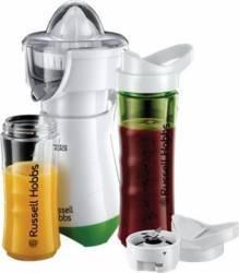 Blender cu storcator de citrice Russell Hobbs Mix & Go Juice 21352-56 300 W 2 sticle 2 conuri Alb-Verde Blendere si Tocatoare