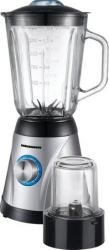Blender de masa Heinner OptiMix Plus 650 600W 1.5L 5 viteze + Pulse Argintiu