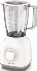 Blender de masa Philips HR2100 400W 1.25L 2 viteze Functie Pulse Lame inox Alb blendere si tocatoare