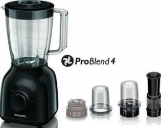 Blender de masa Philips HR2104 400W 2 viteze Functie Pulse Lame inox Negru