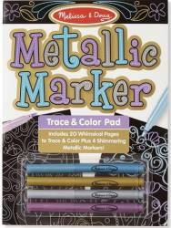 Bloc de desenat contururi Metallic Melissa and Doug Rechizite