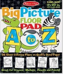 Bloc gigant de colorat cu litere si animale Melissa and Doug Rechizite