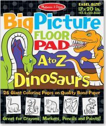 Bloc gigant de colorat cu litere si dinozauri Melissa and Doug Rechizite