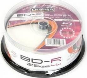 Blu-Ray 25GB 4x Omega Glossy 25 buc set Cake25