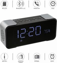 Boxa portabila Bluetooth Tellur Hydra cu ceas 10W Neagra Boxe Portabile