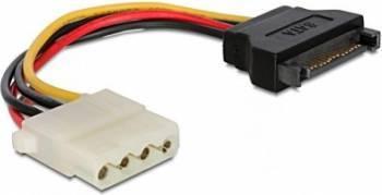 Cablu alimentare Delock SATA 15 pini la Molex T-M 12cm Cabluri Componente