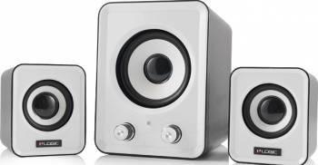 Boxe Audio Logic LS-20 2.1 White Boxe