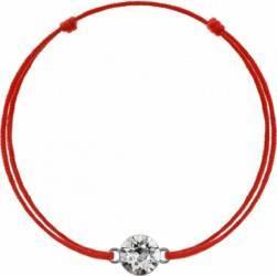Bratara Kabbalah Cu Pandantiv Din Argint 925 Placat Cu Rodiu Si Cristal Swarovski Xirius 6mm Crystal Clear