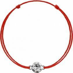 Bratara Kabbalah Cu Pandantiv Din Argint 925 Placat Cu Rodiu si Cristal Swarovski Xirius 6mm Crystal Clear Bratari