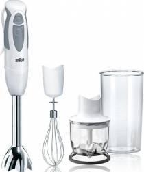 Mixer vertical Braun MQ325 Spaghetti 550W 2 viteze Lame inox Alb Mixere