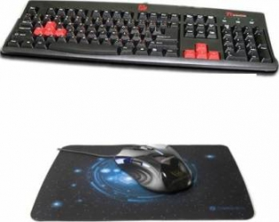 Bundle Gaming Tastatura Tt eSPORTS Amaru + Newmen N500 Negru + Mousepad MP235