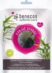 Burete Benecos Konjac cu carbune de bambus pentru ten gras si acnee Accesorii Cosmetice