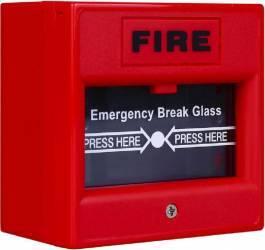 Buton de incendiu cu geam de sticla ND-EBG911 Rosu Accesorii alarme