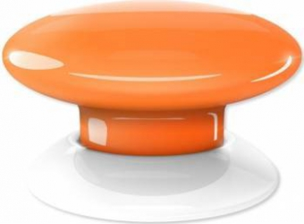 Buton multi-controller Fibaro Portocaliu Kit Smart Home si senzori