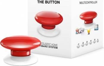 Buton multi-controller Fibaro Rosu