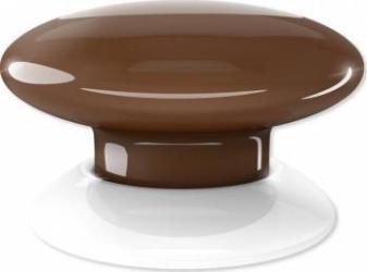 Buton multi-controller Fibaro Wenge Kit Smart Home si senzori