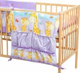 Buzunar Patut MyKids Happy Giraffe Mov Lenjerii si accesorii patut