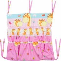 Buzunar Patut MyKids Happy Giraffe Roz Lenjerii si accesorii patut