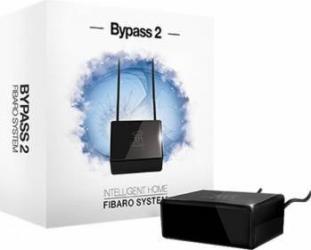 Bypass 2 Fibaro pentru becuri LED Negru Kit Smart Home si senzori