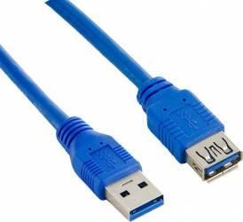 Cablu 4World 08952 extensie USB 3.0 0.5m Albastru