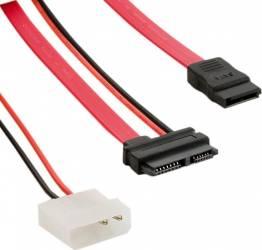 Cablu 4World SATA3- Slimline SATA-LP4 30cm Cabluri Componente