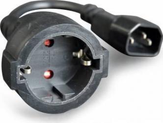 Cablu Adaptor Gembird C14 la Schuko mama 0.15 m Accesorii UPS