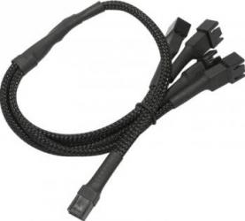 Cablu Adaptor Nanoxia 1x3 pini la 4x3 pini 60 cm Accesorii Ventilatoare