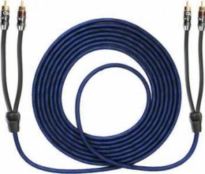 Cablu Aiv RCA 2 canale 5.5m Albastru Transparent