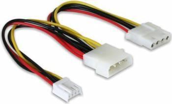 Cablu alimentare Delock Molex tata la Molex mama + 3.5inch FDD 20 cm Cabluri Componente