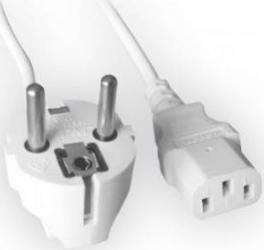 Cablu Alimentare Gembird 1.8m VDE Alb Cabluri Periferice