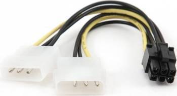 Cablu Alimentare Gembird VGA card PCI-E 5.25 Molex to 5.25 Molex Cabluri Componente