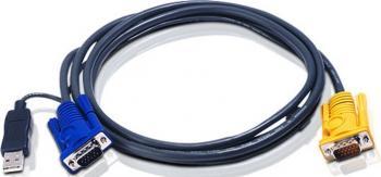 Cablu Aten INTELLIGENT HDB15M-USBAM 3M Accesorii KVM