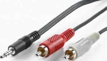 Cablu audio 1x Jack 3.5 - 2x RCA 150 cm Negru