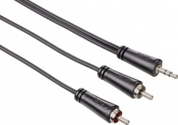 Cablu audio Hama 122297 Jack 3.5mm Male la 2RCA Male 5 m Cabluri Audio
