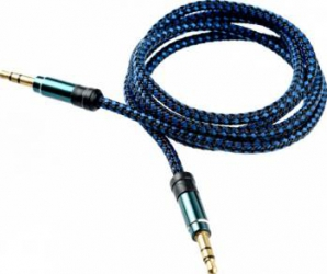 Cablu audio Tellur Jack 3.5 1m Albastru Cabluri Audio