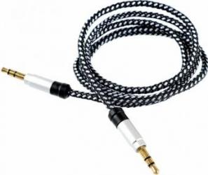 Cablu audio Tellur Jack 3.5 1m Argintiu