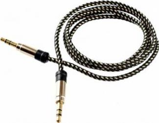 Cablu audio Tellur Jack 3.5 1m Auriu