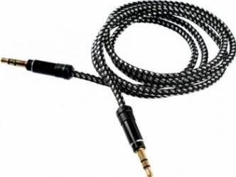 Cablu audio Tellur Jack 3.5 1m Negru Cabluri Audio