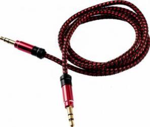 Cablu audio Tellur Jack 3.5 1m Rosu