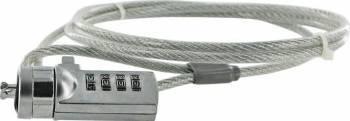 Cablu Blocare Laptop 4World cu cifru